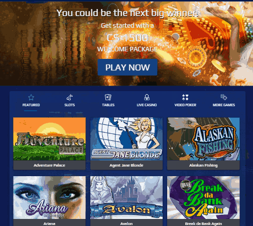 AllSlots Casino - 1500 sign on bonus
